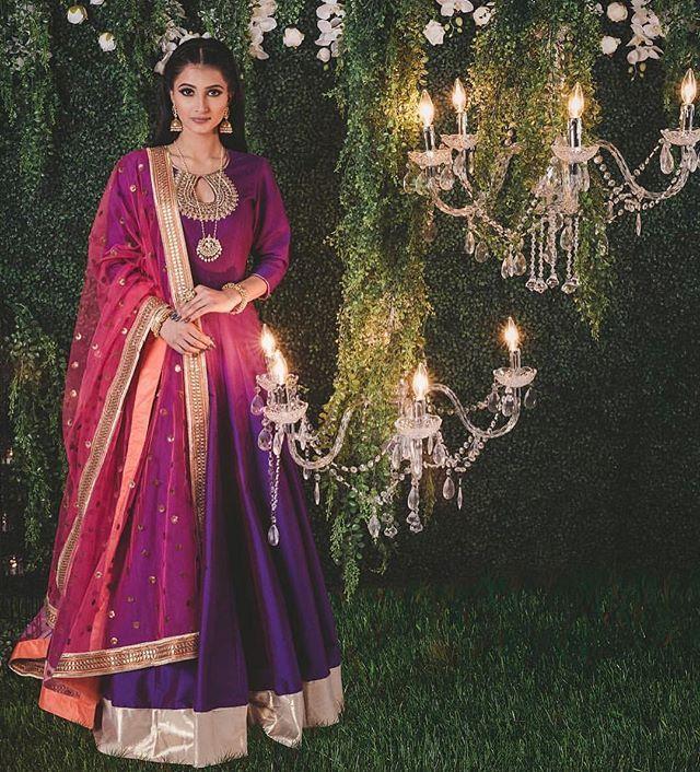 WEBSTA @ desi_couture - 💜 ️💛   Indische kleider, Brautmode ...