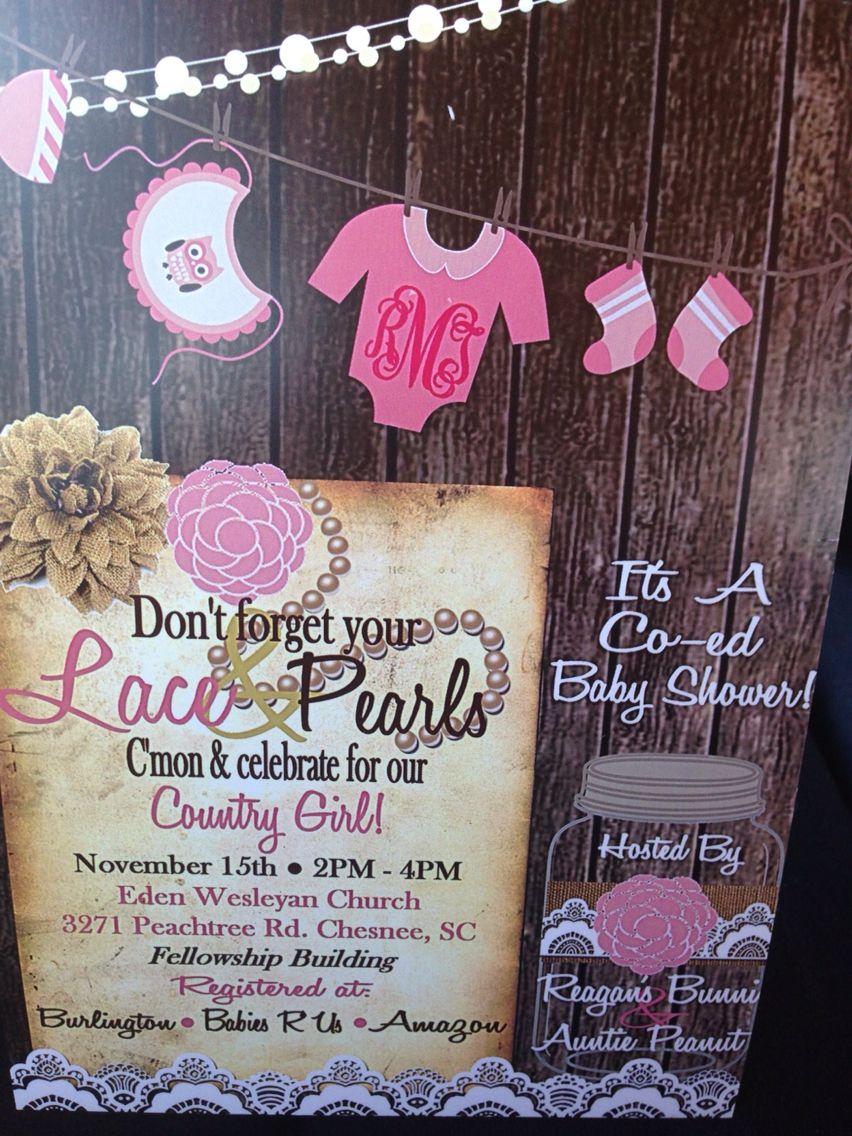 Shabby Chic Baby Shower Invitation. Made by Sarah Davis at Down ...