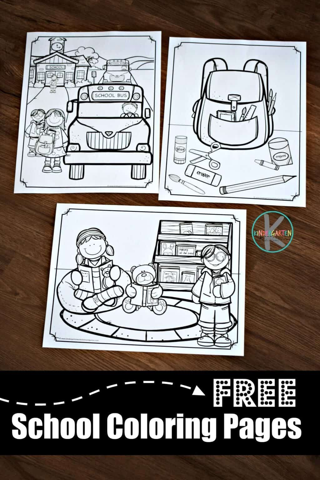 Free Printable School Coloring Pages For Toddler