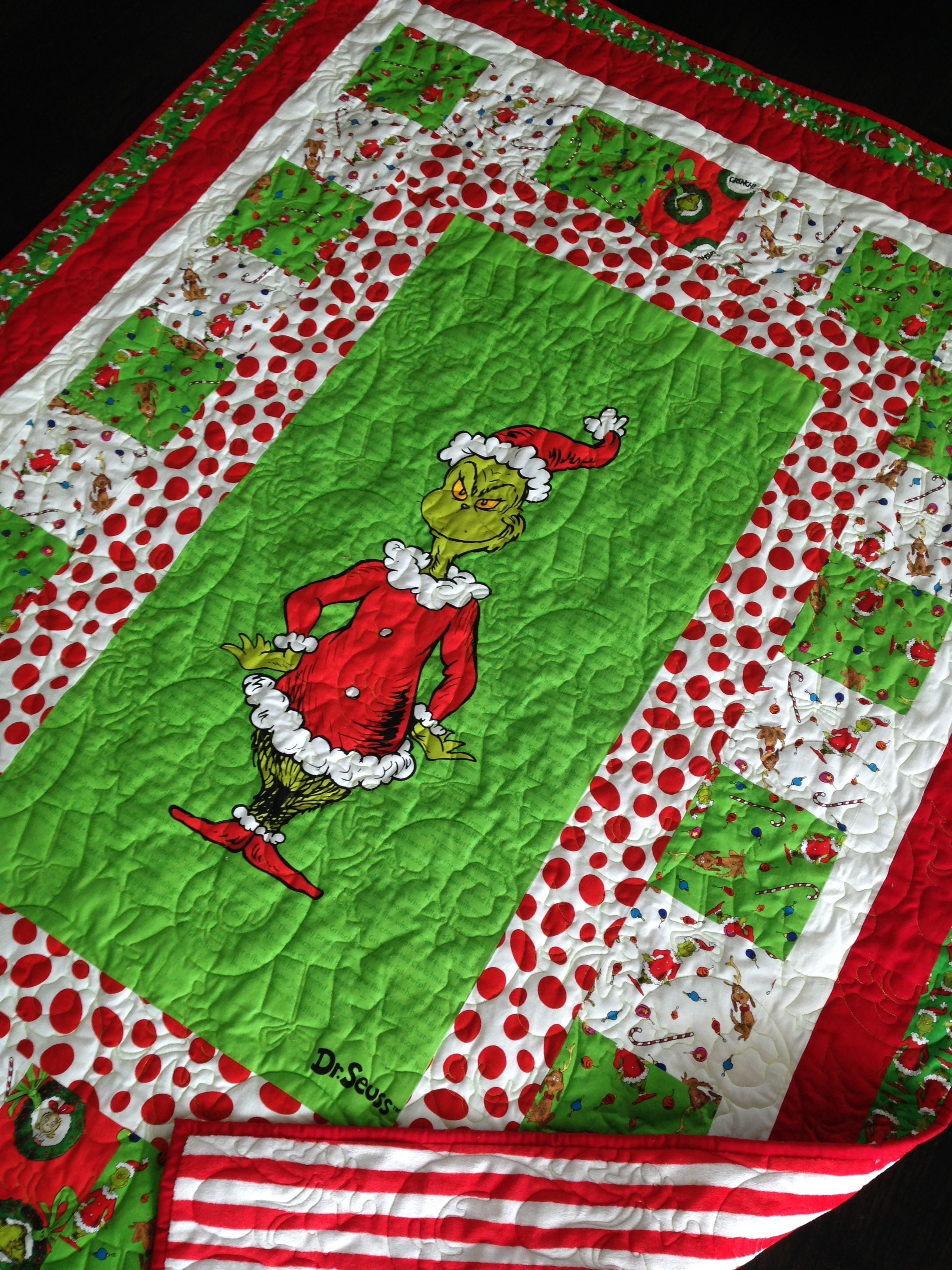 Christmas Grinch Quilt Panel Quilts Christmas Quilts Panel Quilt Patterns