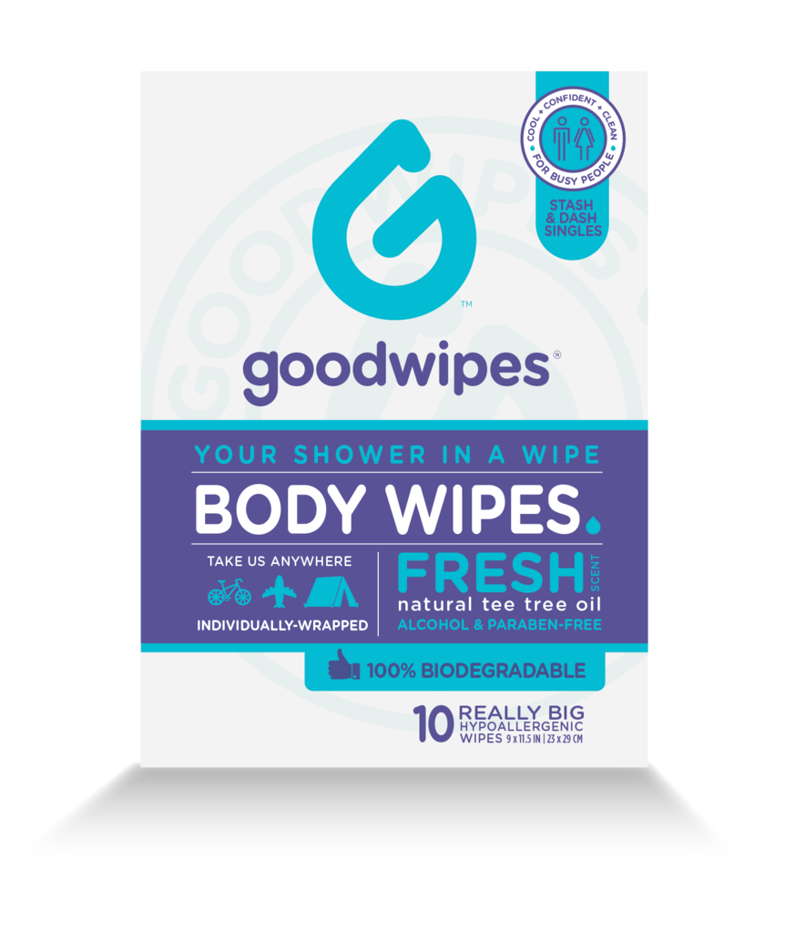 Body Wipes For Everyone Fresh 10ct Singles Biodegradable