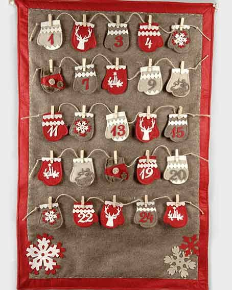 calendrier de l 39 avent avec des petites moufles xmas advent calendars and noel
