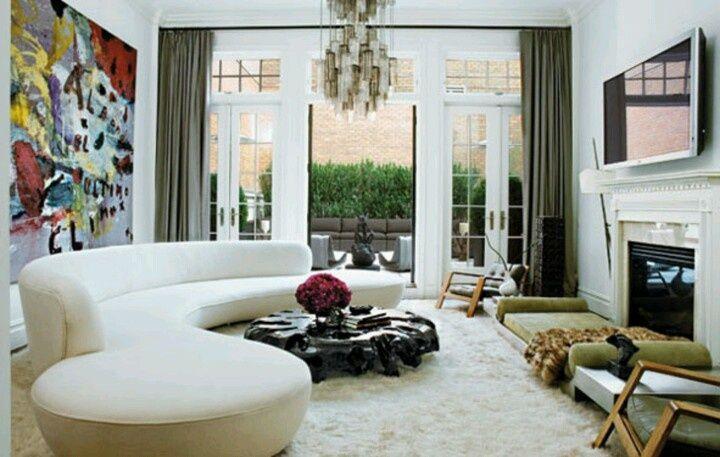 Interior Design For Living Room Vladimir Kagan Serpentine Sofa Interior Design Chic Living