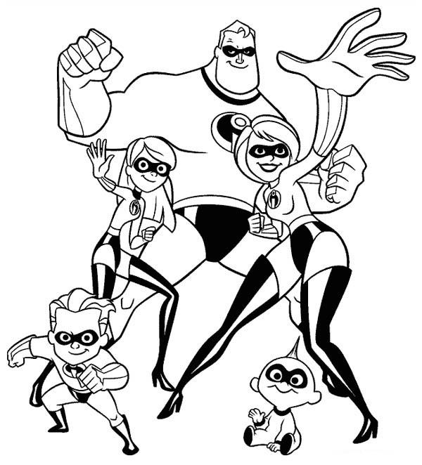 The Incredibles Whole Family Coloring Page Download Print Online Coloring Pages For F In 2020 Superhero Coloring Pages Cartoon Coloring Pages Disney Coloring Pages
