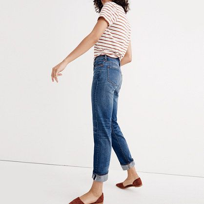 relaxed straight cuff selvedge jean womens