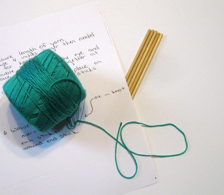 Bookmark Weaving Sticks Heritage Wonderful Child Craft by NormasTreasures on Etsy