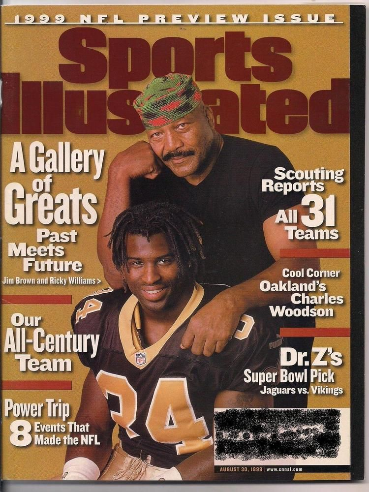 NFL PREVIEW 1999 SPORTS ILLUSTRATED JIM BROWN & RICKY