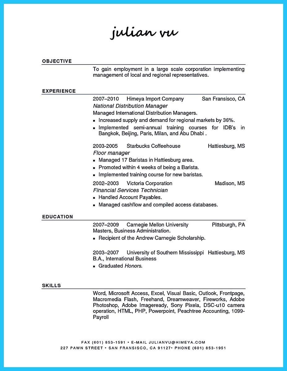 Nice 30 Sophisticated Barista Resume Sample That Leads To Barista Jobs Internship Resume Nursing Resume Examples Resume Skills