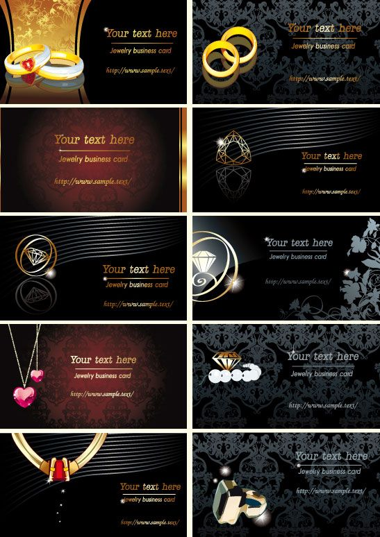 Jewelry business cards vector download BUSINESS BEADS IDEAS - sample cards