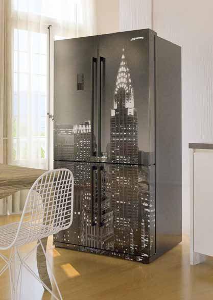 frigorifero smeg doppia porta new york bianco e nero | FRIGORIFERO ...