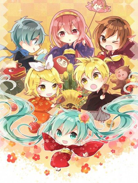 Tags: Anime, Pixiv Id 14279480, Vocaloid, MEIKO (Vocaloid), Kagamine Rin, Takoluka, Megurine Luka