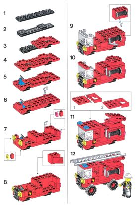 Fire Ladder Truck Building Instructions Printable | LEGO