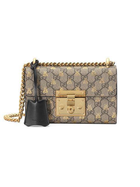 cbecb1d9 Gucci Gold GG Bees Padlock Small Shoulder Bag | Fashion | Gucci bee ...