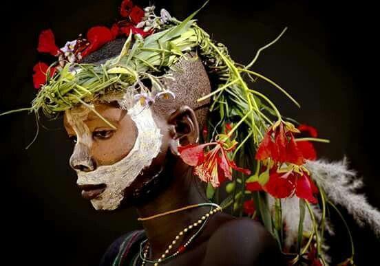 Petit surma de Kibish # Omo # Éthiopie.