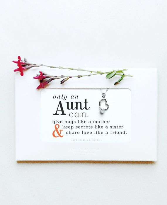 Moonacresbylp Sterling Silver Aunt Gift Aunt Jewelry New Aunt