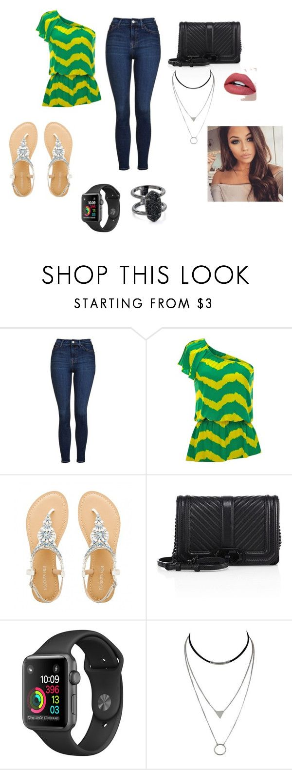 """""""normal day"""" by emma-387 ❤ liked on Polyvore featuring Topshop, jon & anna, Rebecca Minkoff and Kendra Scott"""