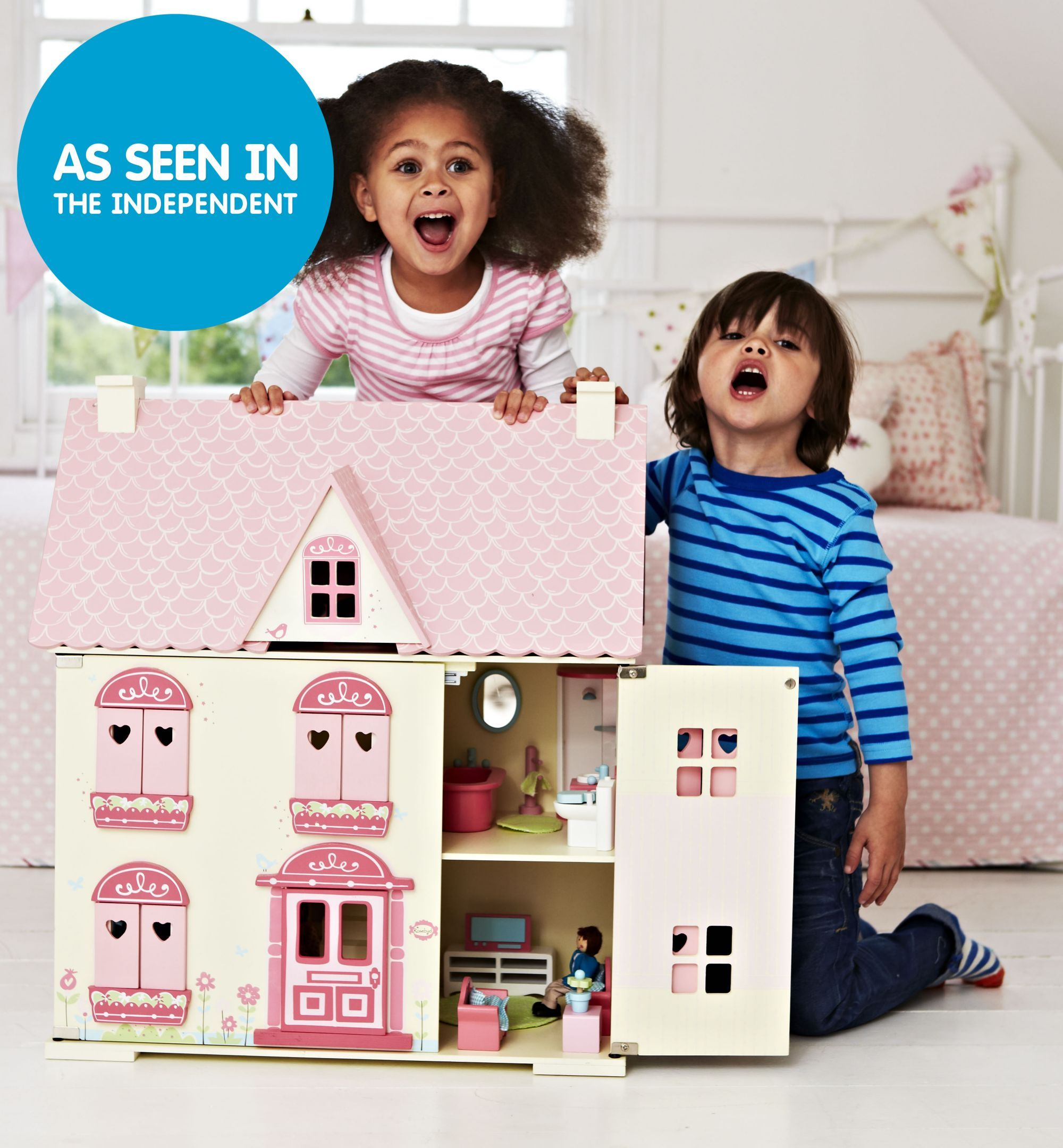 Dolls house at argos co uk your online shop for dolls houses dolls - Rosebud House Is A Gorgeous Wooden Dolls House Which Will Inspire Years Of Fun Dolls House Play For Your Child