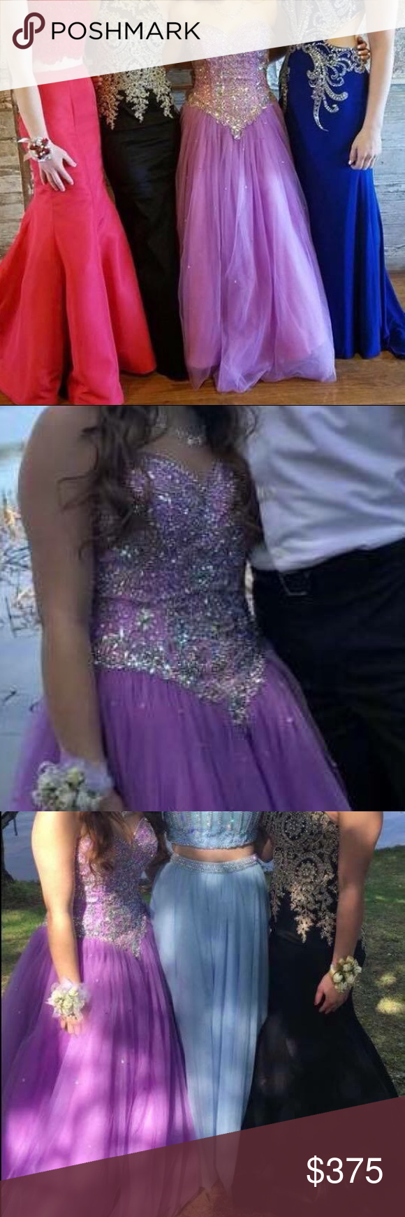 Lavender poofy prom dress poofy prom dresses dress prom and corset