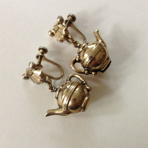 "Spotted while shopping on Poshmark: ""Vintage tea cup earrings.""! #poshmark #fashion #shopping #style #Jewelry"