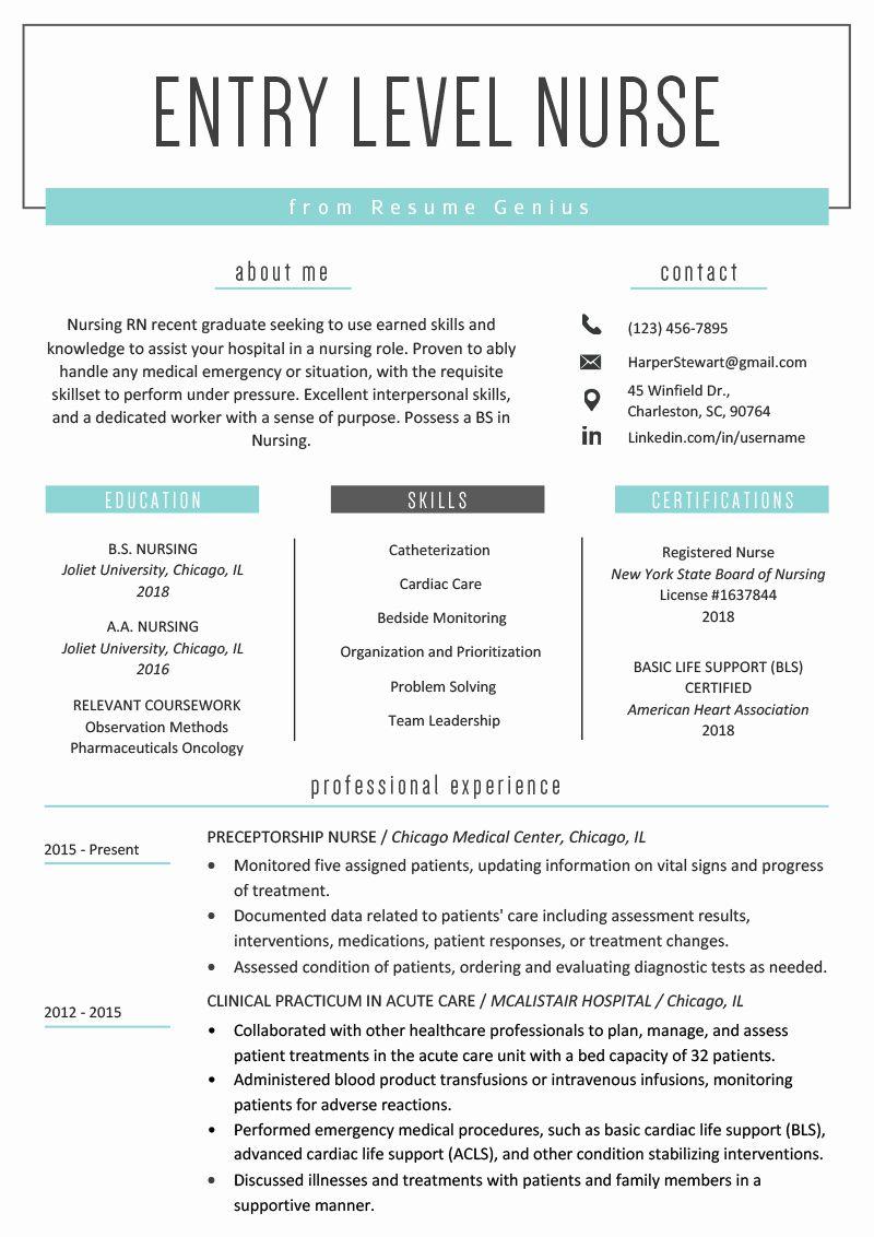 20 Entry Level Nurse Practitioner Resume in 2020