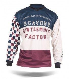 Vintage Motorcycle Jersey Customizable Old France Kaos Model Pakaian Pakaian