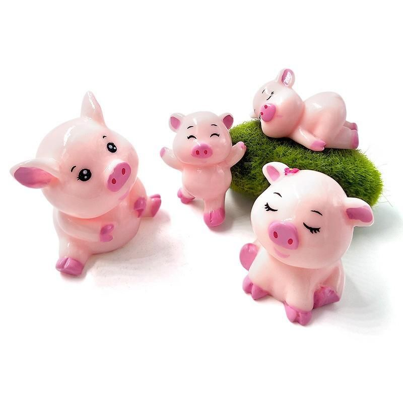 Wedding cake topper Cute Pigs wedding clay doll clay ring holder - Pigs bride and groom figurines personalized animals proposal clay figurine