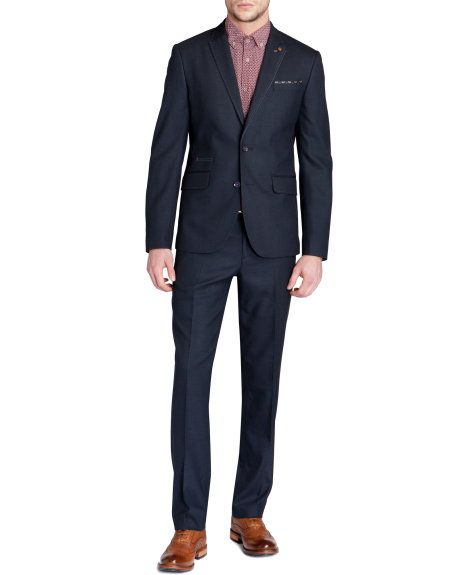 6a0815c9aa9e ELRATRO - Textured trousers - Navy