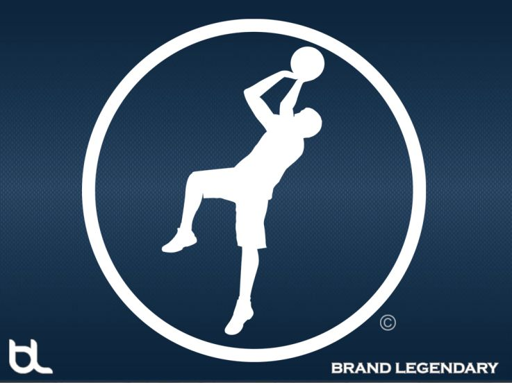 Brand Legendary Swish Icon Blue Wallpaper