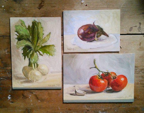 Escoje 3 cuadros de verduras para comedor por barraganpaintings ...