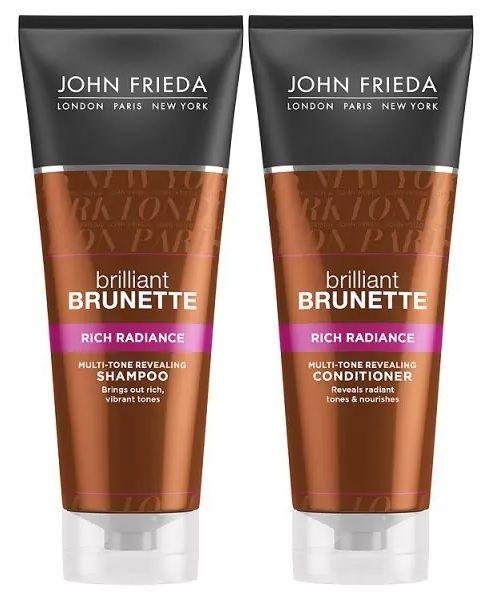 John Frieda Brilliant Brunette Rich Radiance Shampoo And
