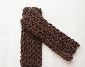 Fingerless Gloves - Brown Mittens - Crochet Fingerless Gloves - Sexy Gloves