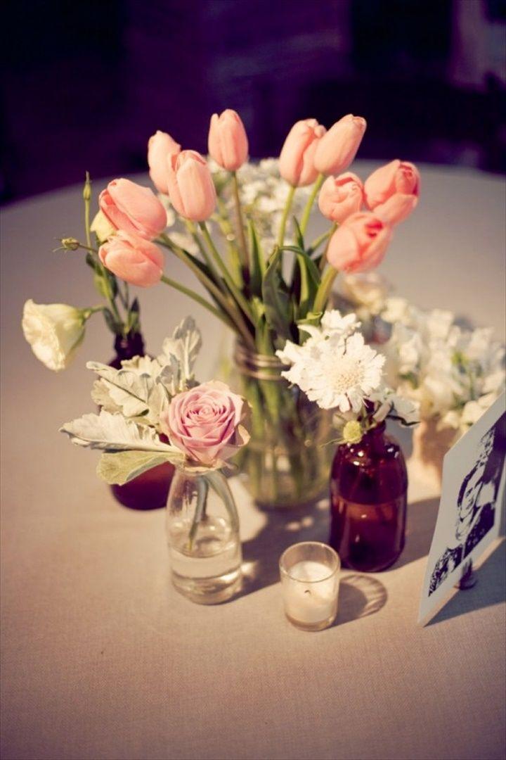 68 Best & Cheap Mason Jar Centerpiece Ideas | Mason jar weddings ...