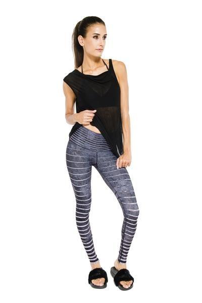 56065a2e0beab Slate Stripe Barefoot Legging   SHOP   Striped leggings, Barefoot ...