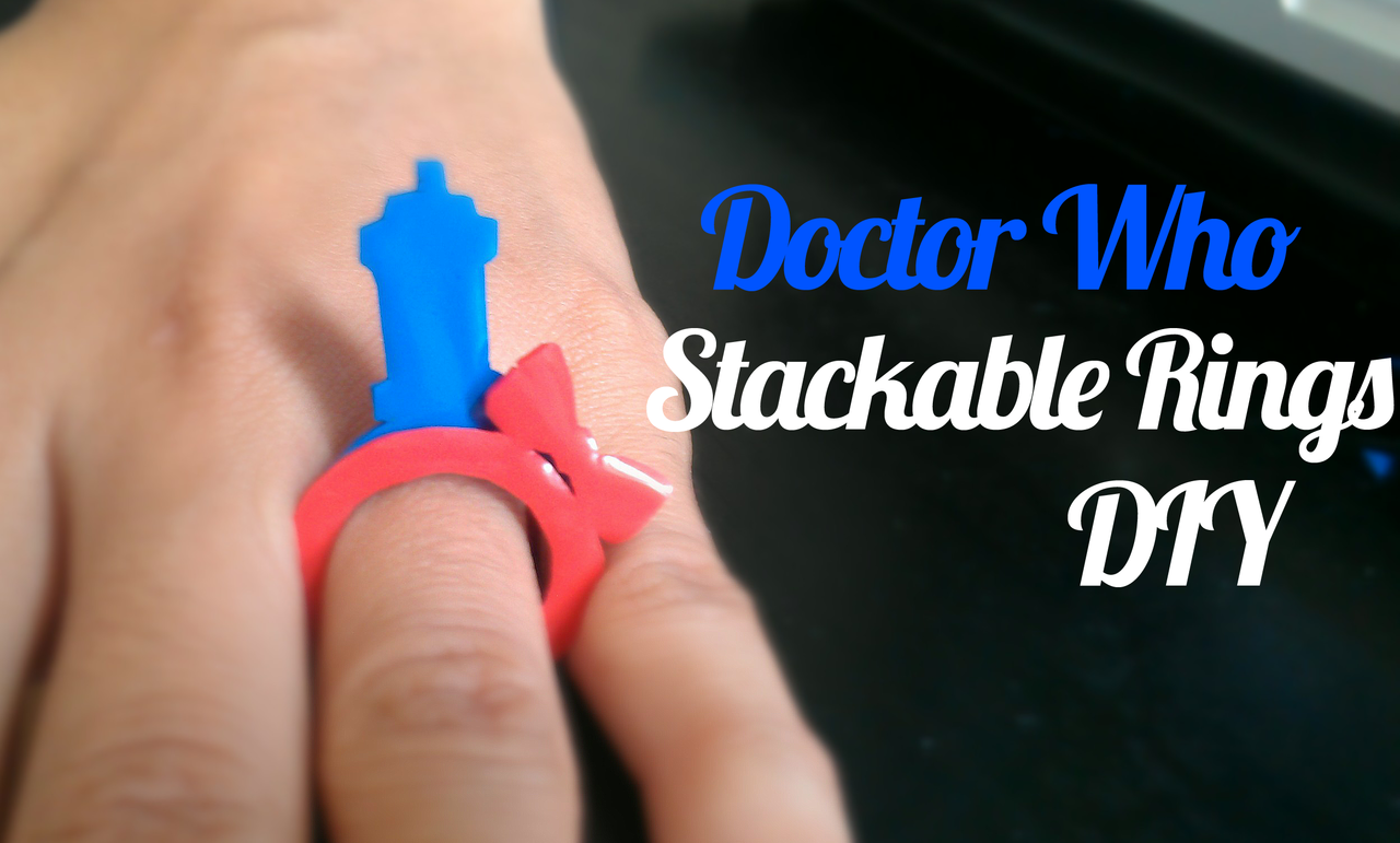 Doctor Who Stackable Ring Tutorial and Template | by Elise Jimenez I was browsing Etsy and came across these adorable rings by LicketyCut an...