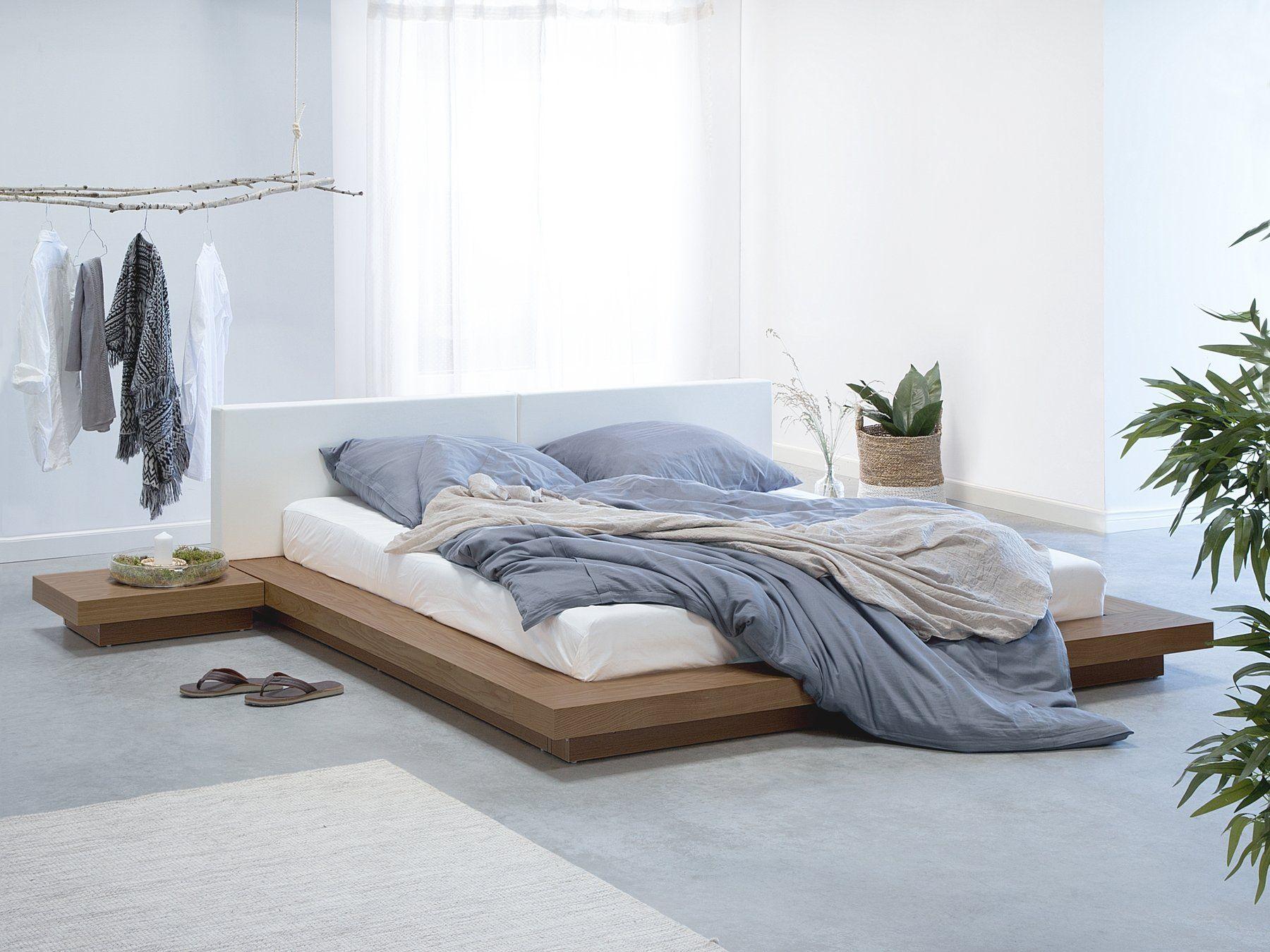 EU Super King Size Bed Light Wood ZEN in 2020 Bedroom