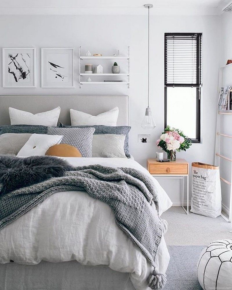 Master bedroom grey and white  Pin by KARANGANHOUSECOM on Bedroom Ideas  Pinterest  Bedroom