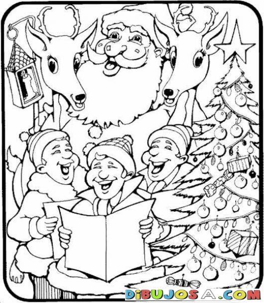 Imagenes de villancicos de navidad para colorear