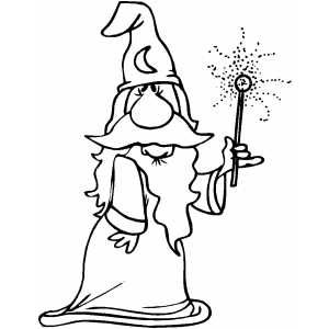 Wizard Showing Magic Wand Effect Graffiti Doodles Coloring Pages Magic Wand