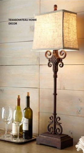 Outstanding Antique Iron Scroll Wrought Buffet Lamp French Country Download Free Architecture Designs Intelgarnamadebymaigaardcom