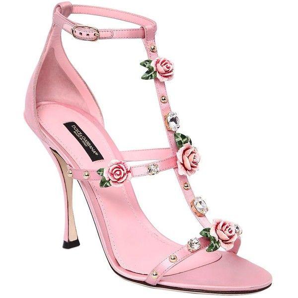 f98b56c51e2 Dolce   Gabbana Women 105mm Keira Embellished Satin Sandals ( 1