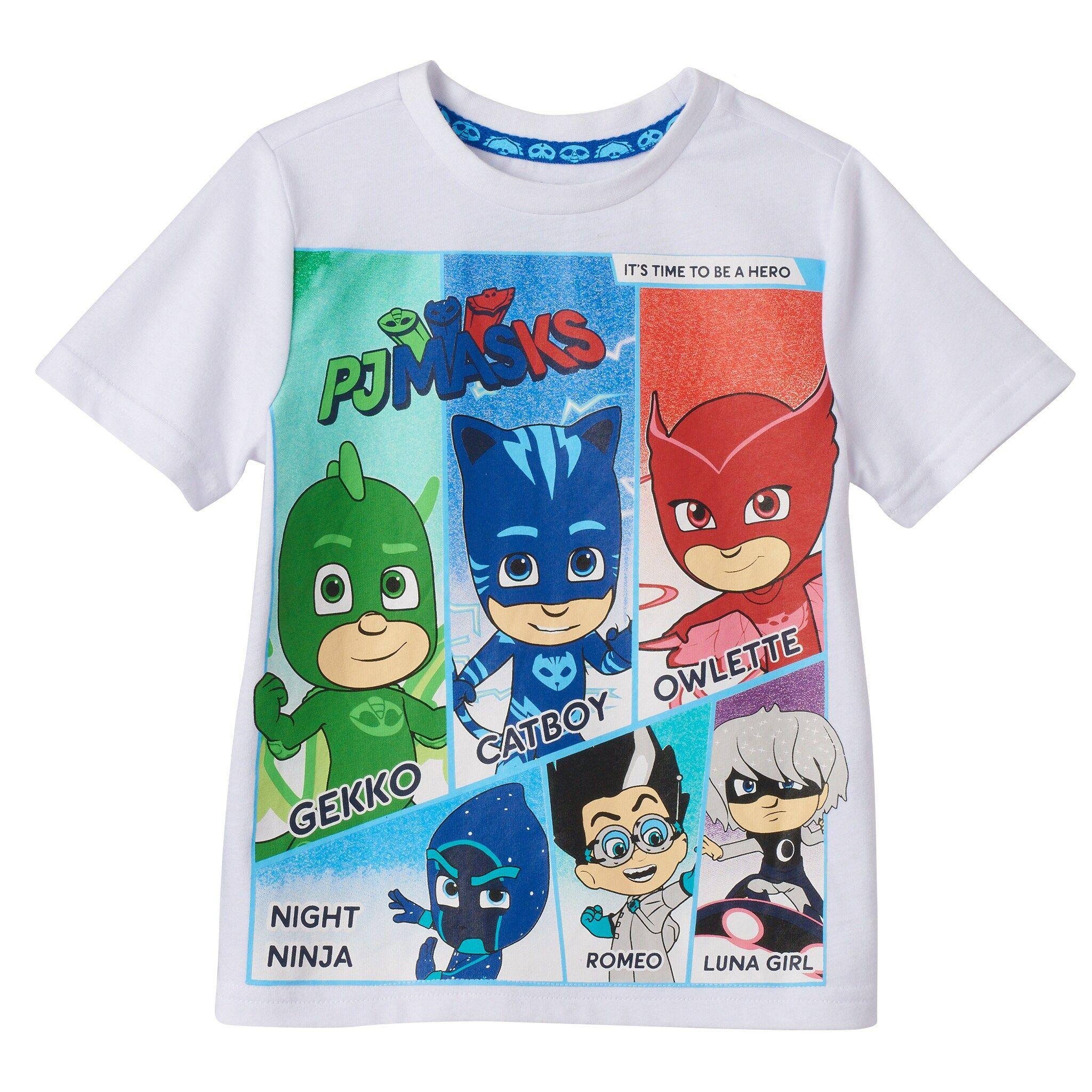 PJ Masks Camiseta de Manga Corta para ni/ños Gekko