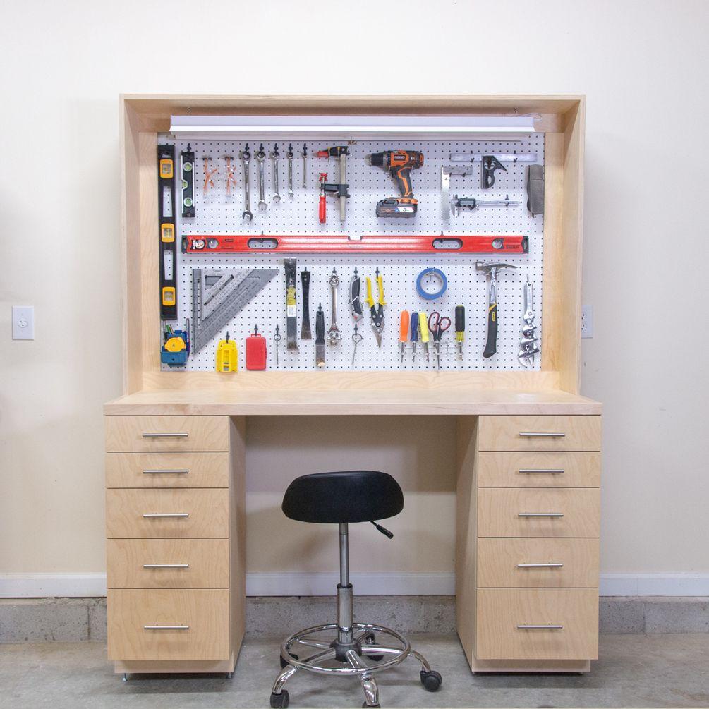 Diy Garage Shop Workbench Plans Garage Work Bench Workbench