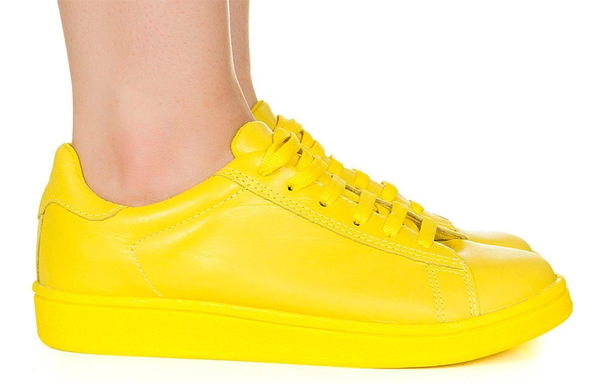 770e863541b Tênis amarelo monocolor Taquilla