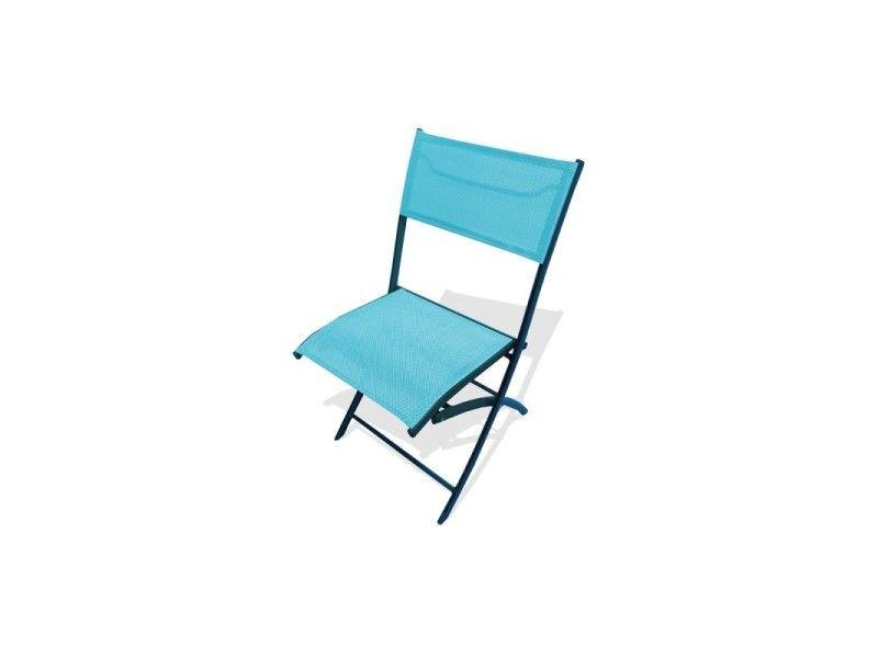 Chaise En Aluminium Et Textilène Turquoise Vente De