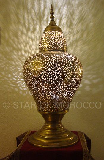 Use Existing Moroccan Lamp Woth Candle As Centerpiece For Table.