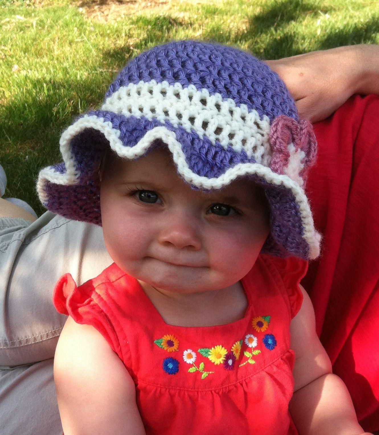 free crochet pattern sun hat - Google Search | Crochet Baby: Hats ...