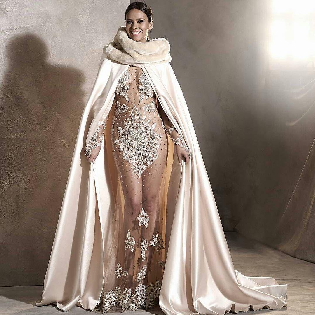Omg!! @pronovias -  The satin cape that was worn by @cristipedroche in champagne color with a fur collar - #fashionblogger #styleblogger #weddingplanner #fashion #style #wedding #inspo #lifestyle #luxury s#wedding #weddingdress #weddingdream #weddingday #weddinginspiration #bridalfashion #bridestobe #fashionista #fashionable #fashionstyle by elaweddingevents