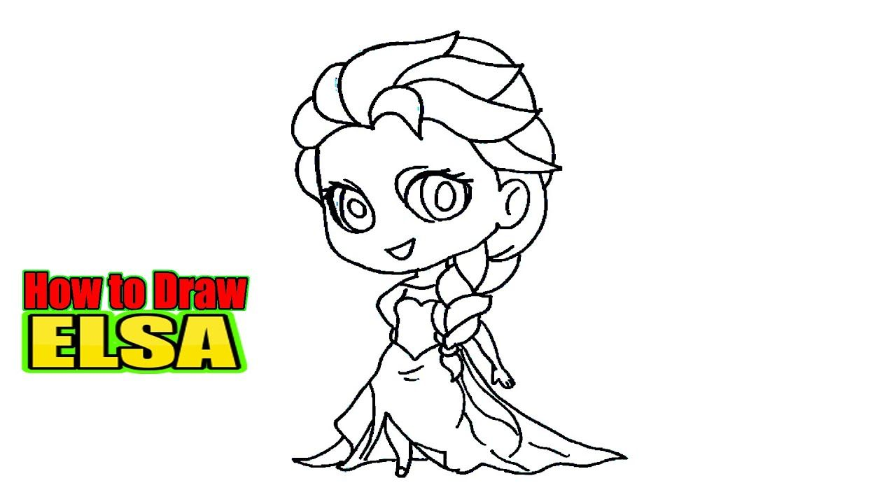 How To Draw Elsa From Frozen 2 Step By Step Drawing Videos Cartoon Character Design Character Design Tutorial Character Design