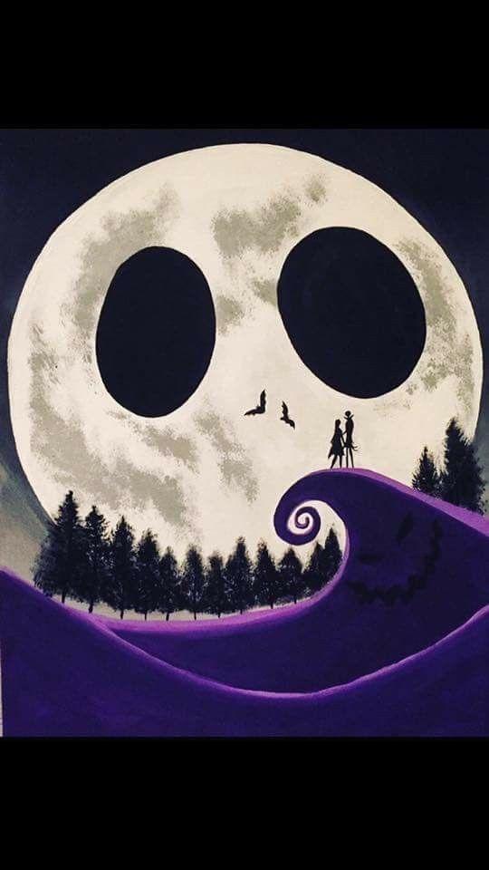 Pesadilla Antes De Navidad Arte De Tim Burton Fondos De Halloween Pantallas De Halloween