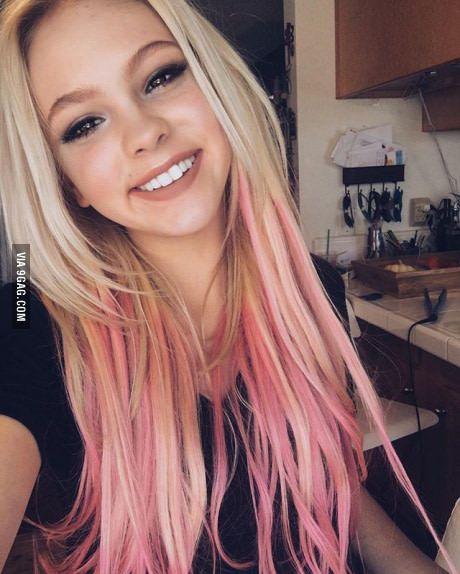 Jordyn Jones In 2020 Pink Blonde Hair Pink Hair Tips Hair Styles